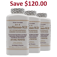 Acemannan-M.D.® 405 Grams - Powder <br> 3 Bottles: Price per bottle: $199.00