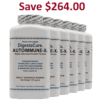 DigestaCure® AUTOIMMUNE-X® 810 Grams - Advanced Powder <br> 6 Bottles: Price per bottle: $155.00