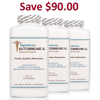DigestaCure® AUTOIMMUNE-X® 810 - 500 mg Capsules <br> 3 Bottles: Price per bottle: $139.00